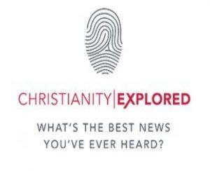 Christianity Explored logo on finger print